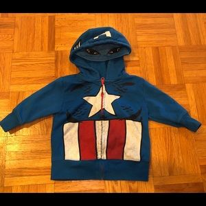 Marvel Captain America hoodie 12 months size